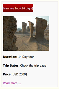 Iran Live tour 14 days premium